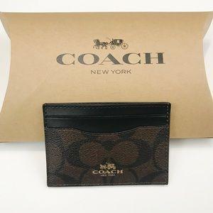 Brand New! COACH Signature Card Case